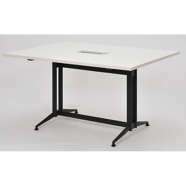 【代引不可】アール・エフ・ヤマカワ:T字脚大会議テーブルW1300×D1000 基本 ホワイト RFTMT-1310WH