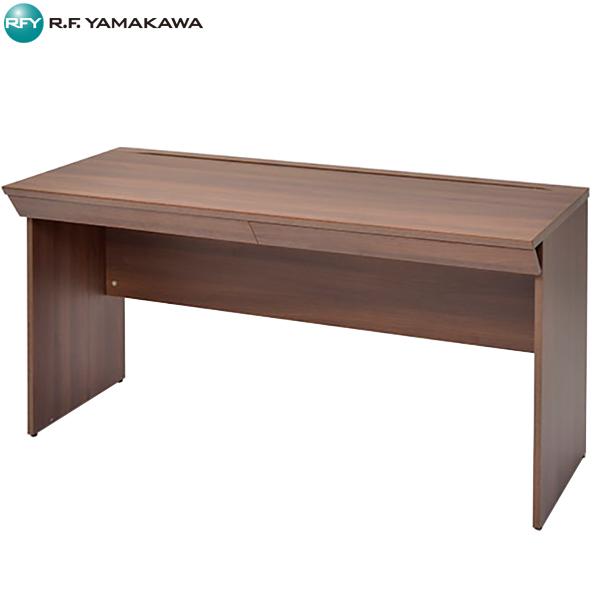 【法人限定】アール・エフ・ヤマカワ:RF木製デスク W1400 引出付き ダーク RFWD-1460DBD