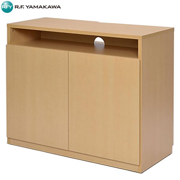 【代引不可】アール・エフ・ヤマカワ:木製TV台ハイ ナチュラル SHTVRH-NA