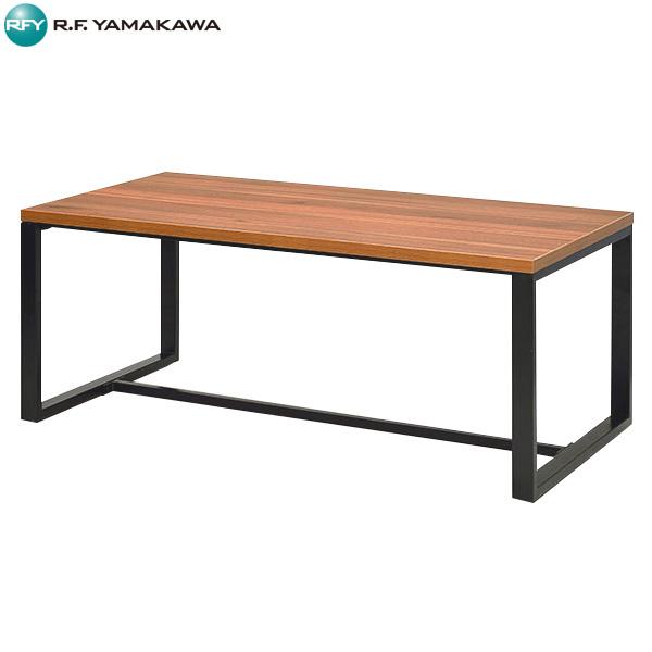 【法人限定】アール・エフ・ヤマカワ:スクエアローテーブル W1100xD550 ダーク GZSLT-1155DB ミーティング