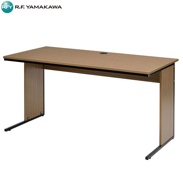 【法人限定】アール・エフ・ヤマカワ:ワーキングデスクW1400xD700 ウォルナット GZWD-1470DM