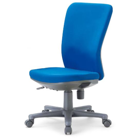 【代引不可】アイコ:オフィスチェア・ミドルバック ブルー RFOA-1205FG3BU