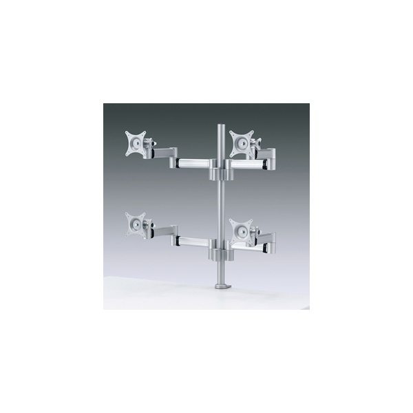 【代引不可】サンワサプライ:水平多関節液晶モニターアーム(4面) CR-LA904N