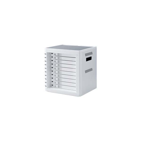 【代引不可】サンワサプライ:iPad・タブレット収納個別鍵付きキャビネット(10台収納) CAI-CAB31W