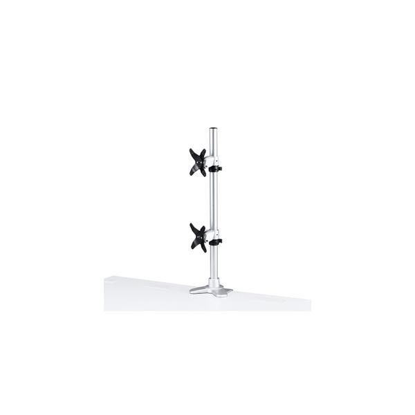 サンワサプライ:水平垂直液晶モニターアーム(上下2面) CR-LA1009N