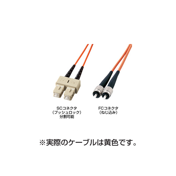 サンワサプライ:光ファイバケーブル(3m) HKB-CF1W-3