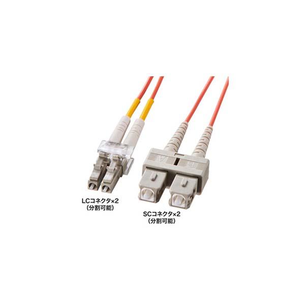 【代引不可】【受注生産品】サンワサプライ:光ファイバケーブル HKB-LCSC5-30L