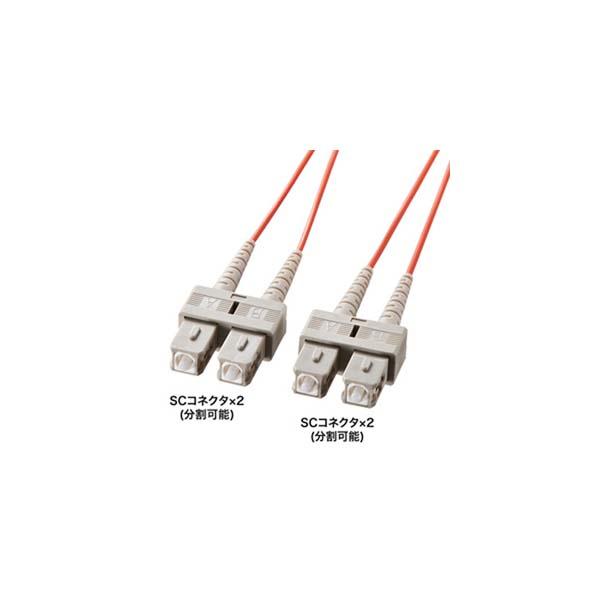 【代引不可】【受注生産品】サンワサプライ:光ファイバケーブル HKB-SCSC5-40L