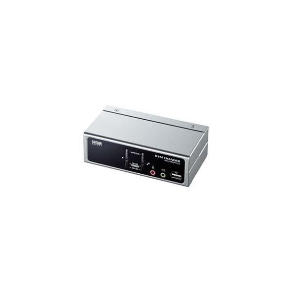 【代引不可】サンワサプライ:USB・PS/2コンソール両対応パソコン自動切替器(2:1) SW-KVM2HVCN