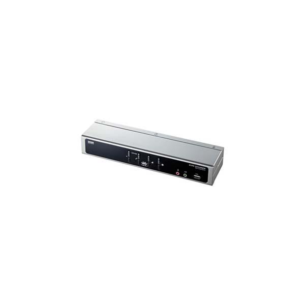 【代引不可】サンワサプライ:デュアルリンクDVI対応パソコン自動切替器(4:1) SW-KVM4HDCN