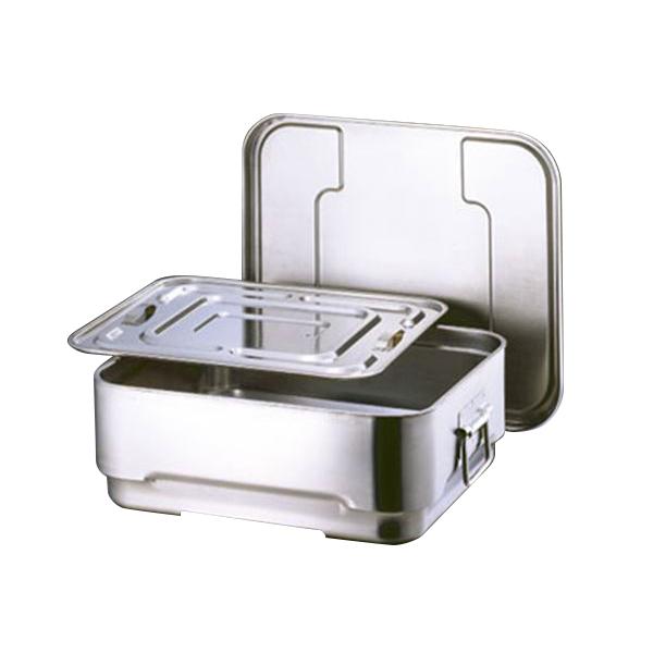 厨房用品 4589504457078 スギコ産業:スギコ 18-8角型二重食缶(内蓋付) DHS-3508
