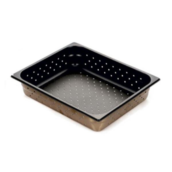 スギコ産業:スギコ 18-8穴明ホテルパン テフロン加工 1/2サイズ SH-1506TP