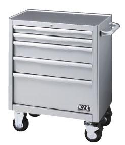 KTC:ローラーキャビネット(5段5引出し):シルバー EKW-1005 整備現場 工具入れ 工具箱 ツールバック スチール製