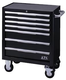 KTC:ローラーキャビネット(7段7引出し):ブラック EKW-1007BK