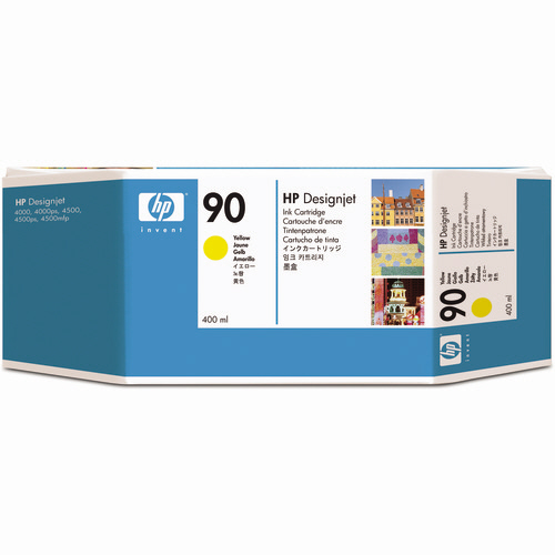 hp(ヒューレット・パッカード):HP90 インクカートリッジ イエロー 400ml 染料系 C5065A 1個 0336581