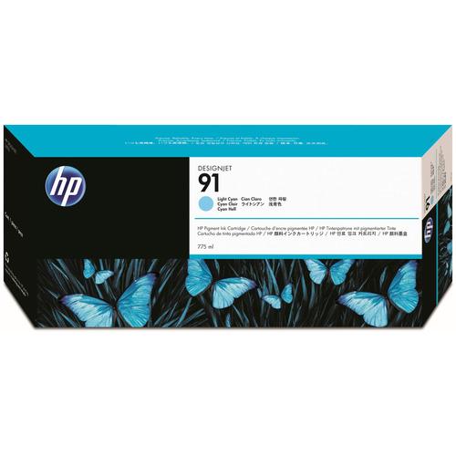 hp(ヒューレット・パッカード):HP91 インクカートリッジ ライトシアン 775ml 顔料系 C9470A 1個 0345200