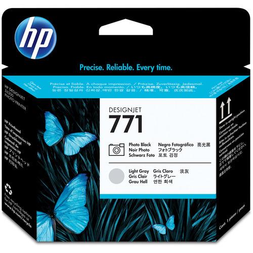 hp(ヒューレット・パッカード):HP771 プリントヘッド フォトブラック/ライトグレー CE020A 1個 0361842
