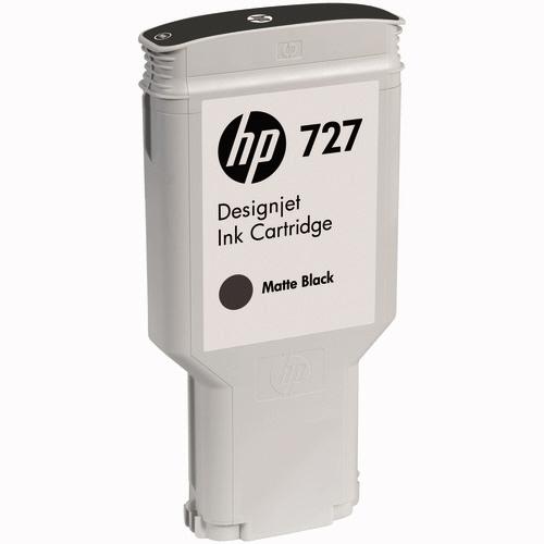 hp(ヒューレット・パッカード):HP727 インクカートリッジ 顔料マットブラック 300ml C1Q12A 1個 0367042