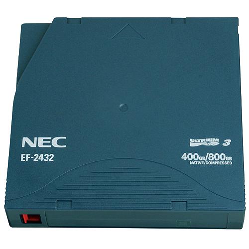NEC(日本電気):LTO Ultrium3 データカートリッジ 400GB(非圧縮時)/800GB(圧縮時) EF-2432 1巻 2208640