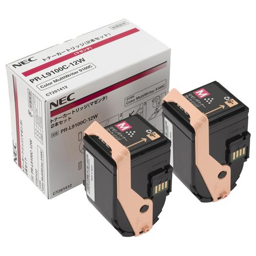 【代引不可】NEC(日本電気):トナーカートリッジ マゼンタ PR-L9100C-12W 1箱(2個) 2289328