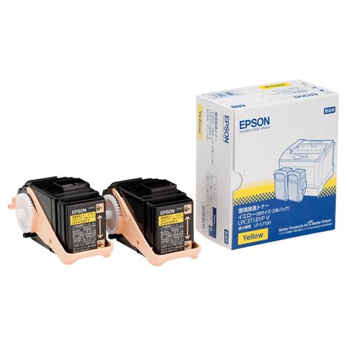 EPSON(エプソン):環境推進トナー イエロー Mサイズ LPC3T18YPV 1箱(2個) 2292090