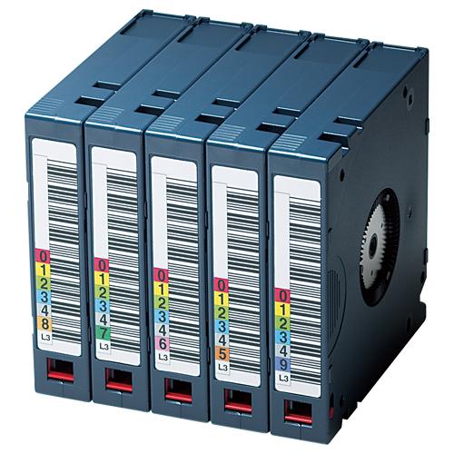 富士フイルム:LTO Ultrium3 データカートリッジ バーコードラベル(縦型)付 400GB LTO FB UL-3 OREDPX5T 1パック(5巻) 2296067