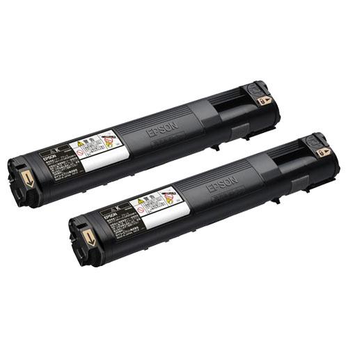 EPSON(エプソン):環境推進トナー ブラック Mサイズ LPC3T21KPV 1箱(2個) 3230848