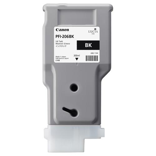 Canon(キヤノン):インクタンク PFI-206 顔料ブラック 300ml 5303B001 1個 3231852