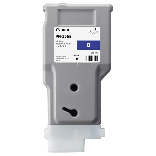 Canon(キヤノン):インクタンク PFI-206 顔料ブルー 300ml 5311B001 1個 3231937