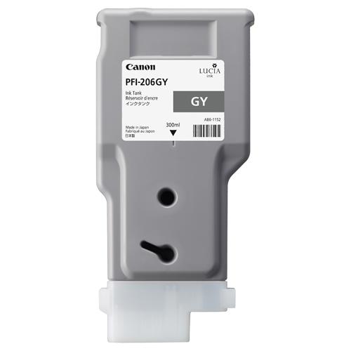 Canon(キヤノン):インクタンク PFI-206 顔料グレー 300ml 5312B001 1個 3231944
