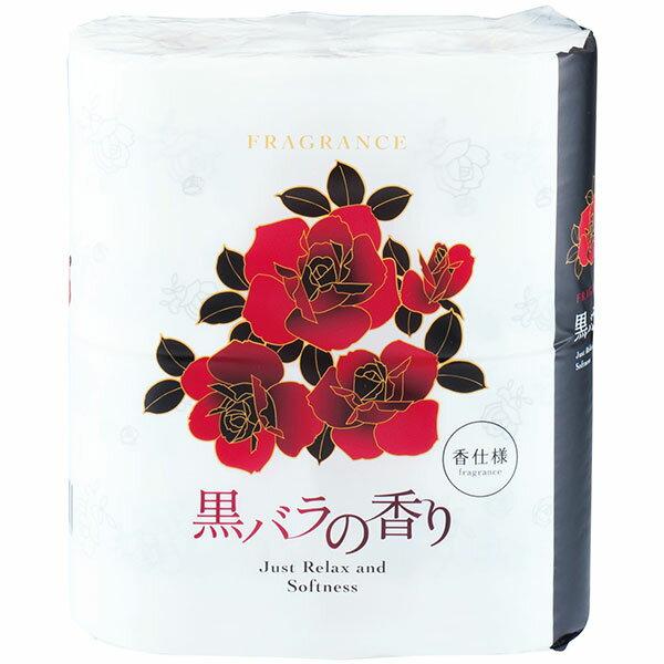 四国特紙:黒バラの香り トイレットペーパー 4ロールダブル30m×12パック 10002067 まとめ買い おすすめ 贈答品 引っ越し ご挨拶