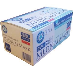 【代引不可】川西工業:川西工業 メディカルマスク 3PLY ピンク 2000枚(50枚入×40箱) 10003339