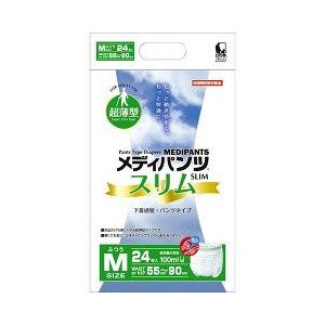 近澤製紙所:メディパンツスリム M24枚入り×4袋