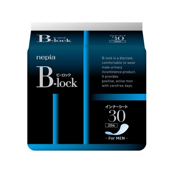 【代引不可】日本製紙クレシア:ネピア B-lockインナーシート30 20枚×18個入り 尿漏れ 軽失禁