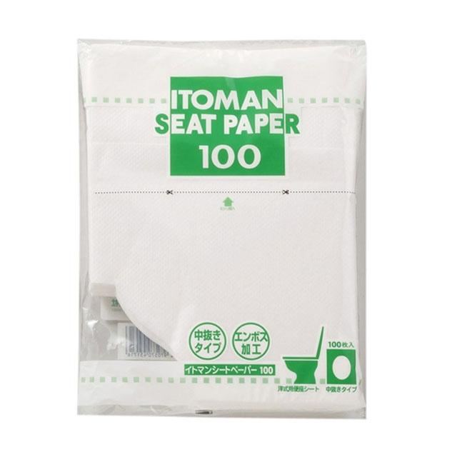 【代引不可】イトマン:シートペーパー 100 100枚×30パック×2合わせ入