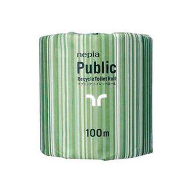 【代引不可】王子ネピア:ネピア パブリック 100m 1ロール×80コ入×10ケース 業務用品 73602