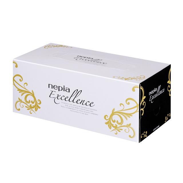 【代引不可】王子ネピア:ネピア ホクシーエクセレンス ティッシュ 200W 200枚×20コ×10ケース 73606