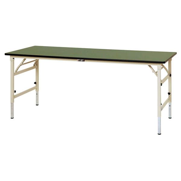 【法人限定】山金工業:YamaTec ワークテーブル 折りタタミ高さ調整タイプ STRA-1260-GI 作業台 工場 オフィス コンパクト 収納 工具不要