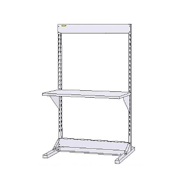 【法人限定】山金工業:YamaTec ラインテーブル 基本形 W1200サイズ片面単体 HRK-1218