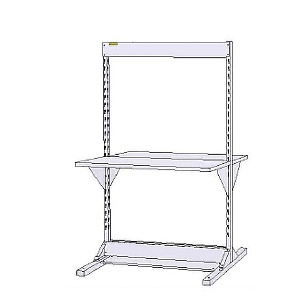 【代引不可】【法人限定】山金工業:YamaTec ラインテーブル 基本形 W1200サイズ両面単体 HRR-1213