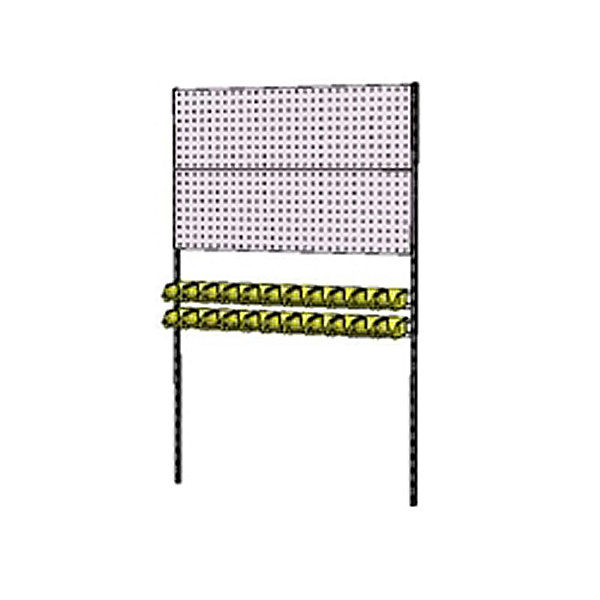 壁 作業台 工場 オフィス 【法人限定】山金工業:YamaTec 壁面ハンガーパネルシステム W1200タイプ 単体 WH-1218-P2YY