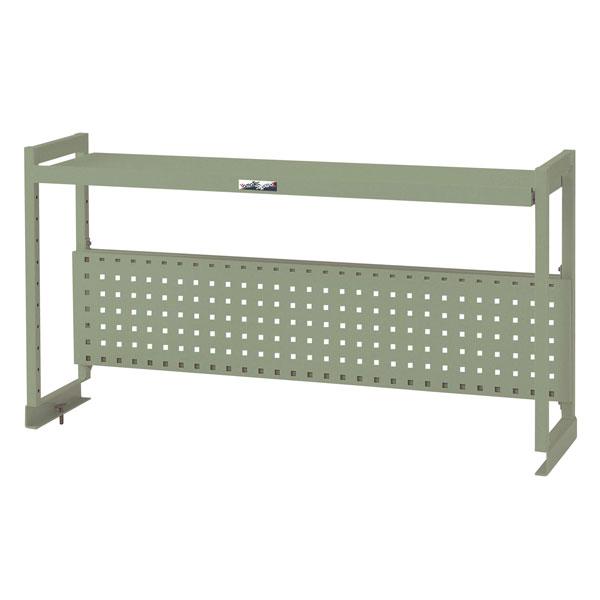 【代引不可】【法人限定】山金工業:YamaTec ワークテーブル架台 棚板1段+パンチングパネルタイプ WKP-1800-G