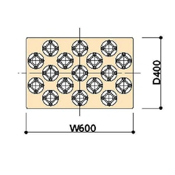 【代引不可】山金工業:YamaTec ツーリングワゴン用 追加棚板(ホルダー付) WLT-6H40-IV