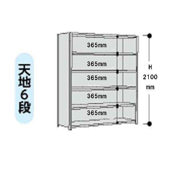 【法人限定】山金工業:YamaTec ボルト式軽量ラック 3方パネル付 12S7545P-6W