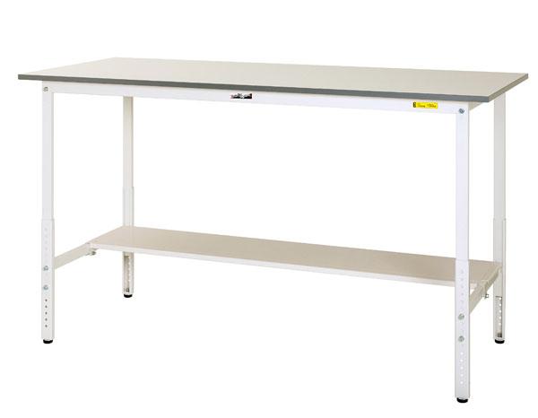 特価商品  半面棚板付 ワークテーブル150シリーズ SUPAH-1245T-WW:イチネンネット 【法人限定】山金工業:YamaTec 高さ調整タイプH900~H1200mm-DIY・工具