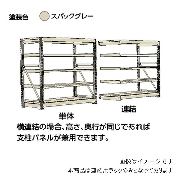 【代引不可】山金工業:YamaTec ボルト式重量ラック 連結 10K6578-4SPGR
