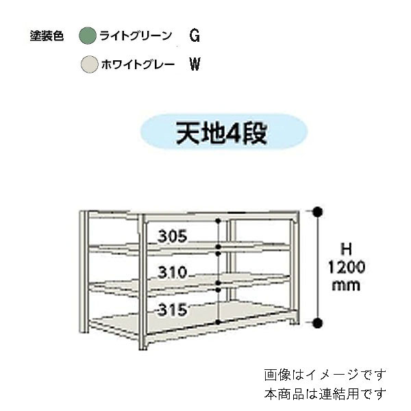 【代引不可】山金工業:YamaTec ボルトレス中量ラック 5S4570-4GR