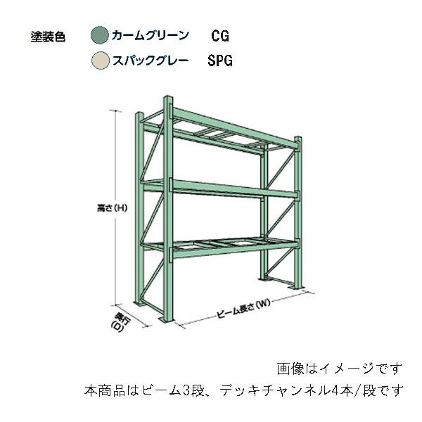 【代引不可】【受注生産品】山金工業:YamaTec パレットラック 20K302711-3SPG