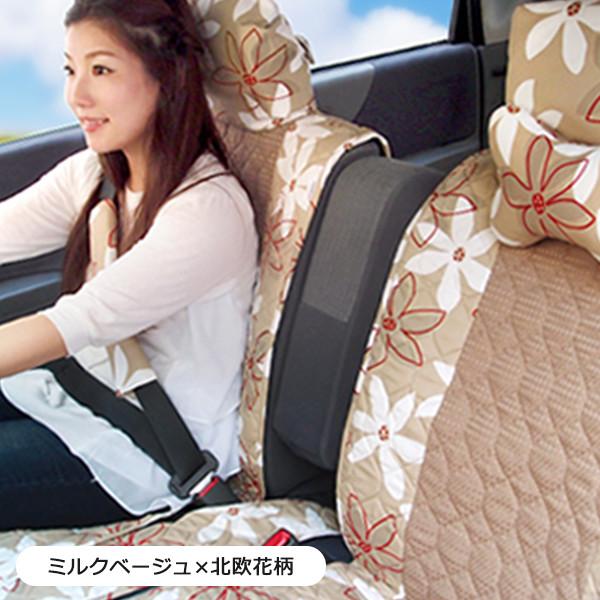 【前座席用シートカバー】花 フラワー柄 洗える かわいい 軽自動車 普通車 コンパクトカー 日本製