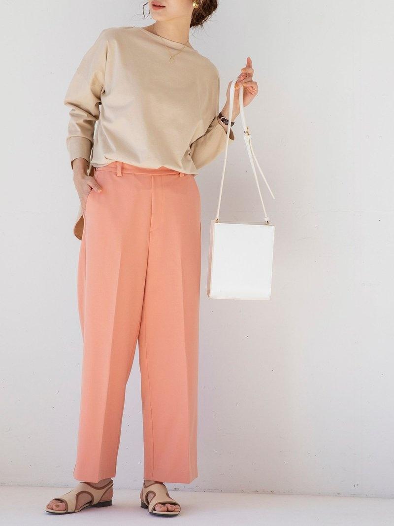 coen_more20 coen0326 オンラインショップ coen レディース パンツ ジーンズ コーエン SALE 70%OFF RBA_E フルレングス 店内全品対象 ベージュ ブラック Fashion Rakuten ピンク ブルー ツイルセンタープレスストレートカラーパンツ